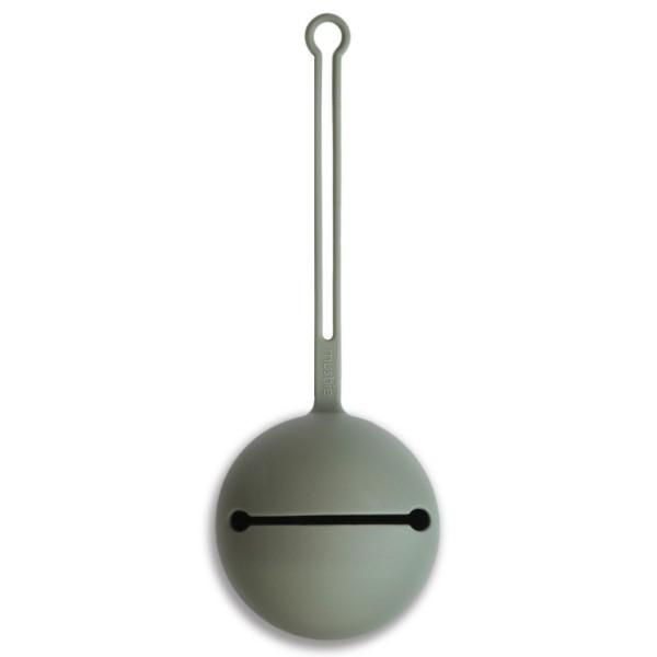 Mushie Schnullerbox Silikon Hellgrün 22 cm