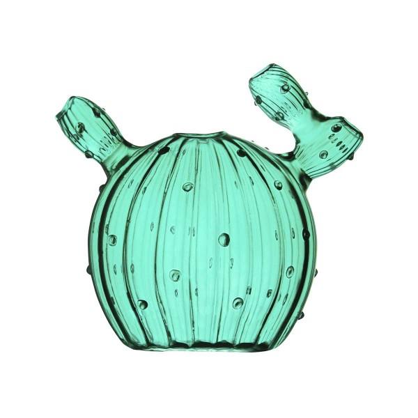 Kaktus Vase Glas dunkelgrün 12x11 cm