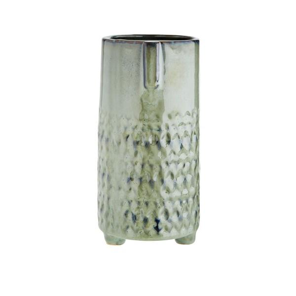 Madam Stoltz Vase Face Keramik grün 10x21,5 cm
