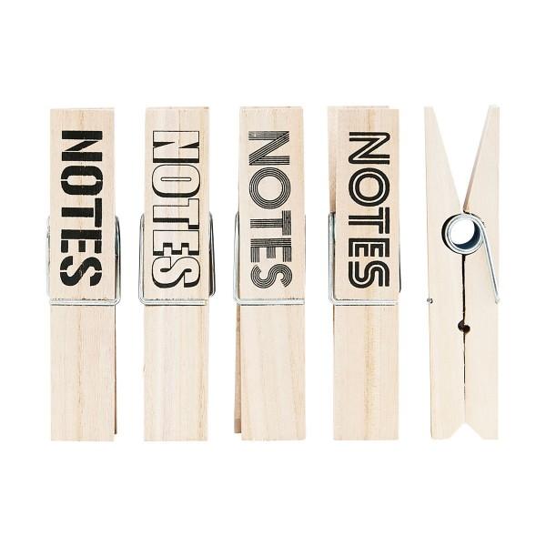 House Doctor Clips Notes Holz Klemme Set 4 Stück