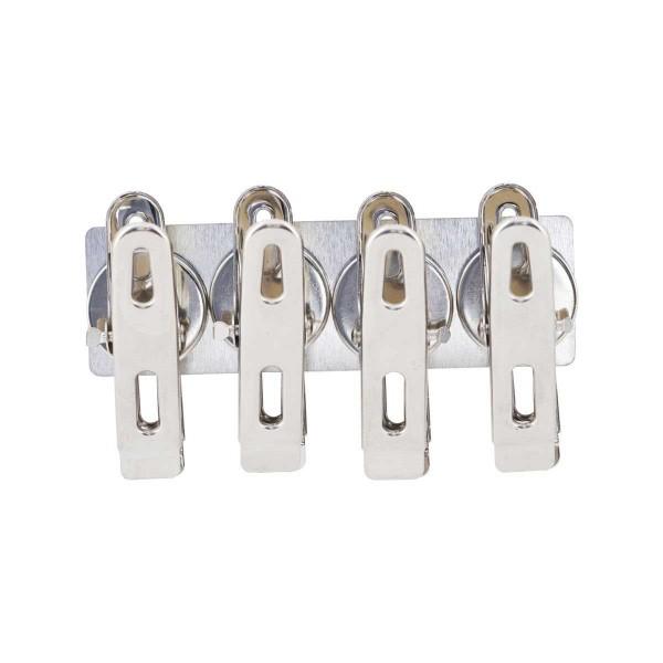 Magneten mit Büroklammern Set Silber 4 Stück
