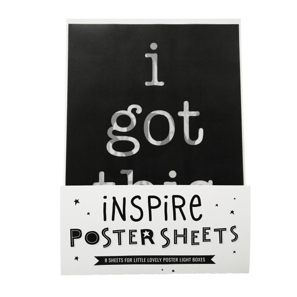 A Little Lovely Company Inspire Poster Lightbox Sheets