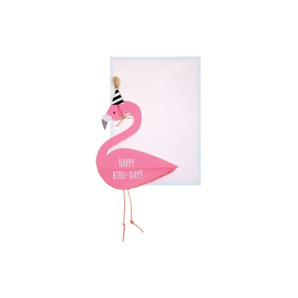 Flamingo Grusskarte Geburtstag 13x18 cm