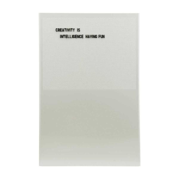 Magnetische Pinnwand Grid Letter Board Grau 90x60 cm