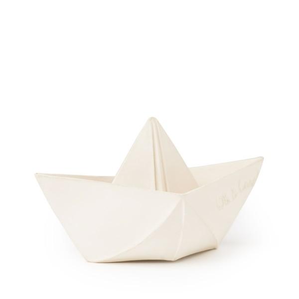 Origami Boot Öko Baby Spielzeug weiss 7x13 cm