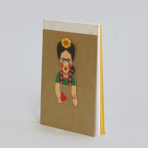 noodoll Frida Kahlo Pocket Sketchbook Notizblock 11,5x8 cm
