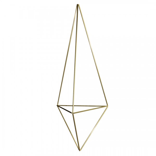 DIY Himmeli Delta Bastelset Blumenampel M gold 12 x 34 cm