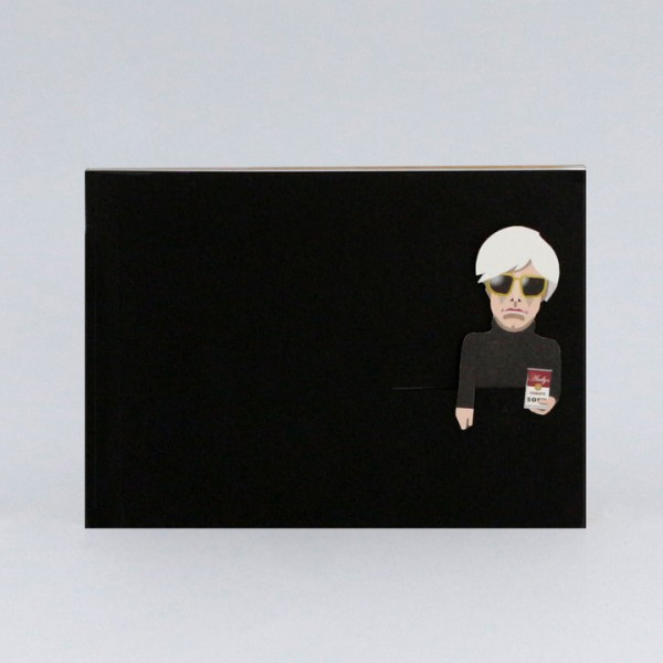 noodoll Andy Warhol Gold Edition Sketchbook Notizbuch 16x11,5 cm