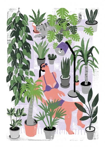 Human Empire Artist Series Botanical Summer Poster 50x70 cm