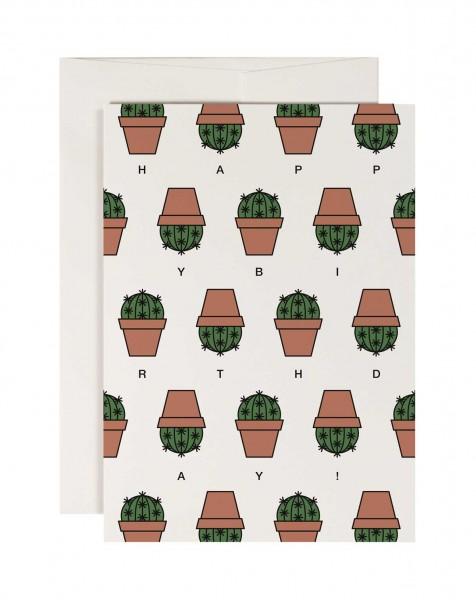 redfries Cactus Kaktus Grusskarte Geburtstag 11x15,5 cm
