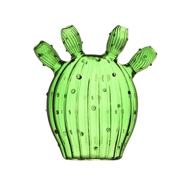 Kaktus Vase Glas olivgrün 13x14 cm