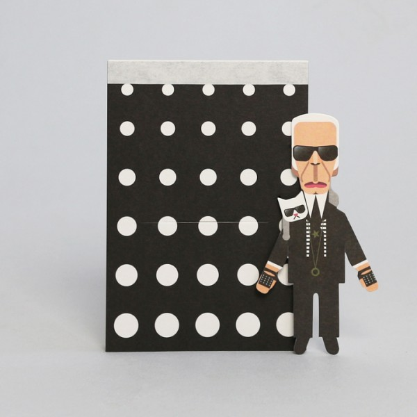 noodoll Fashion King Karl Pocket Sketchbook Notizblock 11,5x8 cm