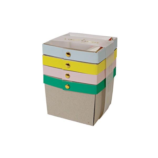 Geschenkboxen Set 4 Stück 10x10x10 cm