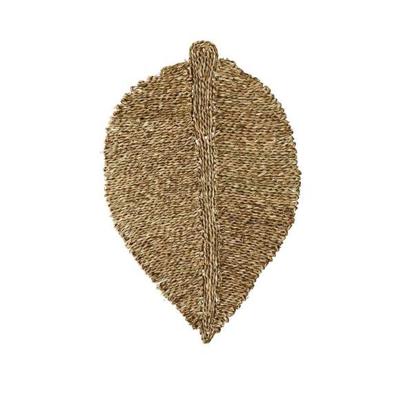 Blatt Fußabtreter Seegras 80x52 cm
