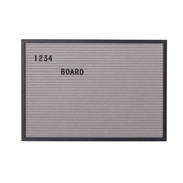 Buchstabentafel MDF Schwarz 50x35 cm