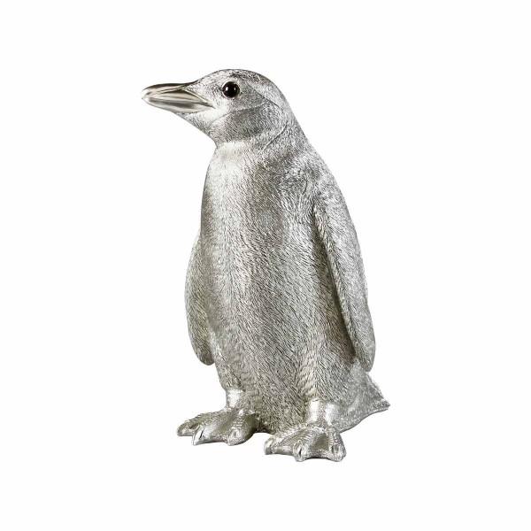 Pinguin Spardose silber 24 cm