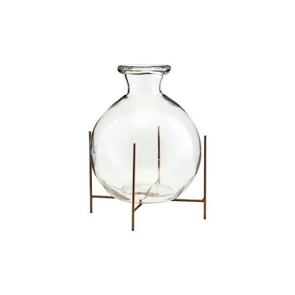 Vase Lana mit Ständer Glas 15x17 cm