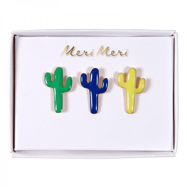 Meri Meri Kaktus Emaille Pins Set