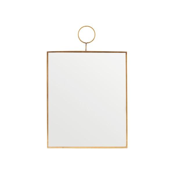 Spiegel Loop Messing 25x30 cm