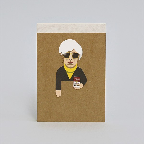 noodoll Andy Warhol Pocket Sketchbook Notizblock 11,5x8 cm
