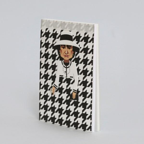 noodoll Coco Chanel Pocket Sketchbook Notizblock 11,5x8 cm