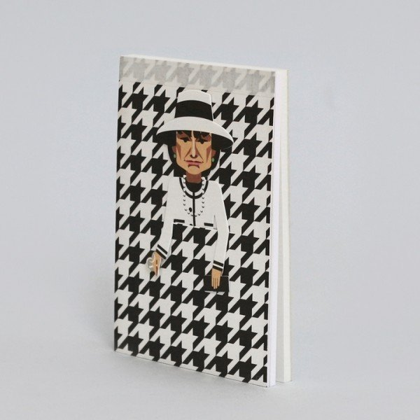 noodoll Coco Chanel Pocket Sketchbook Notizblock 11,5x8 cm